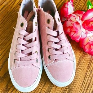 TRUE CRAFT Penny Canvas Sneakers Dirty Pink S 8M